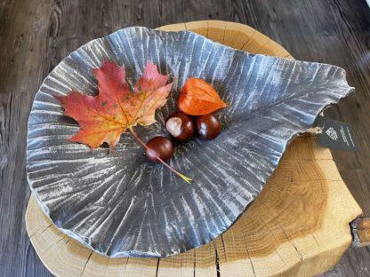 Zahradní pítko malé / mísa – stříbrná patina